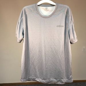 Adidas T Shirt Mens XL Gray Authentic Climate